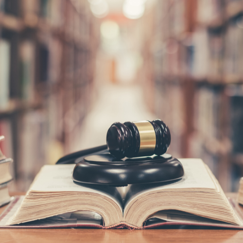 gavel and a lawbook